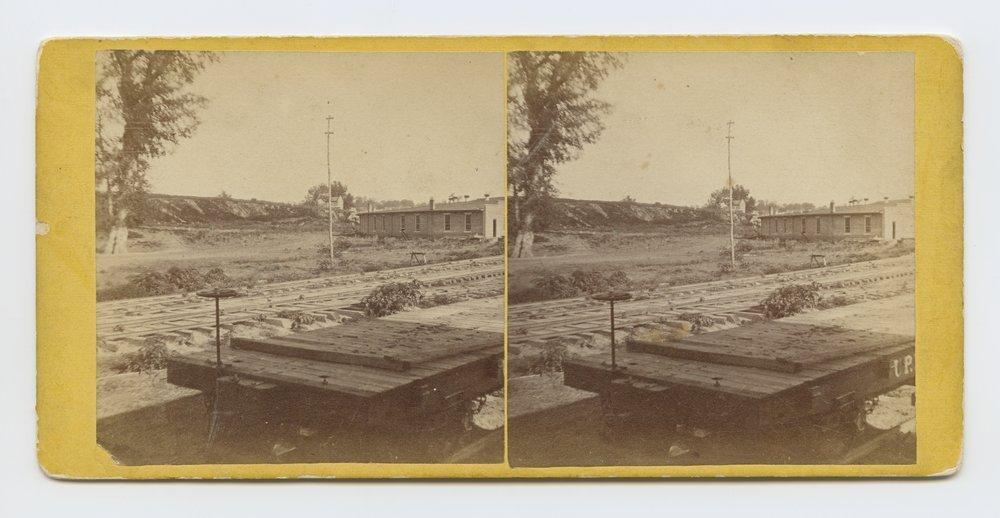 Railroad Shops Wyandotte, Kansas. 286 miles west of St. Louis Mo. - 1