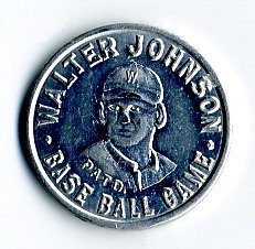 Walter Johnson baseball game piece