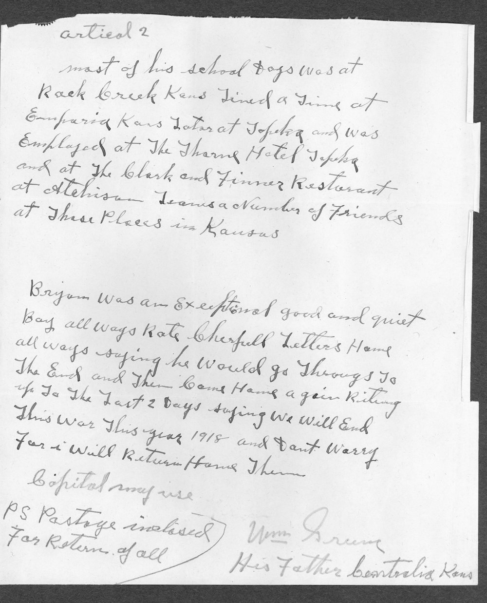 Robert Bryan Greene, World War I soldier - 13