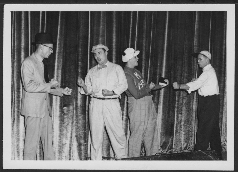 Freudian Follies at the Menninger Clinic, Topeka, Kansas - Emile Eckart, Art McMahon, Gilles Morin, John Bonma in 1954.