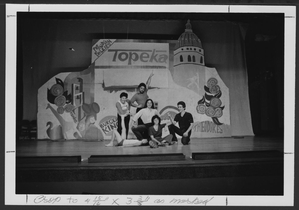 Freudian Follies at the Menninger Clinic, Topeka, Kansas - Part of the cast from the 1982 Follies.