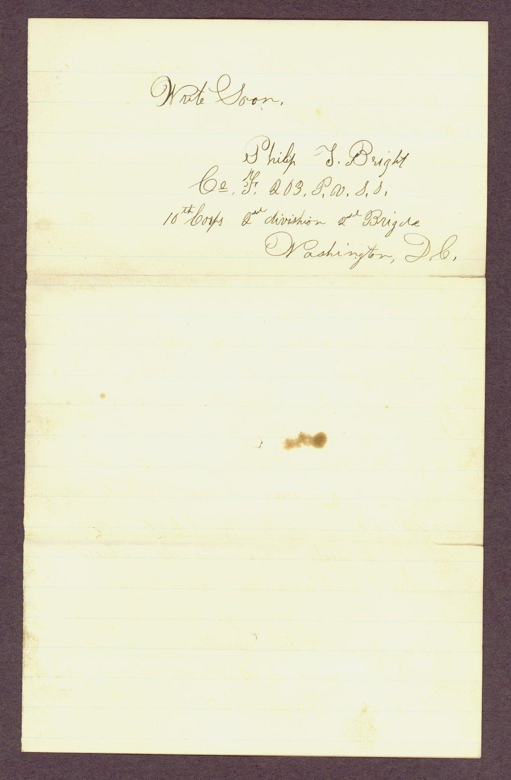 Abbie Bright correspondence - 10