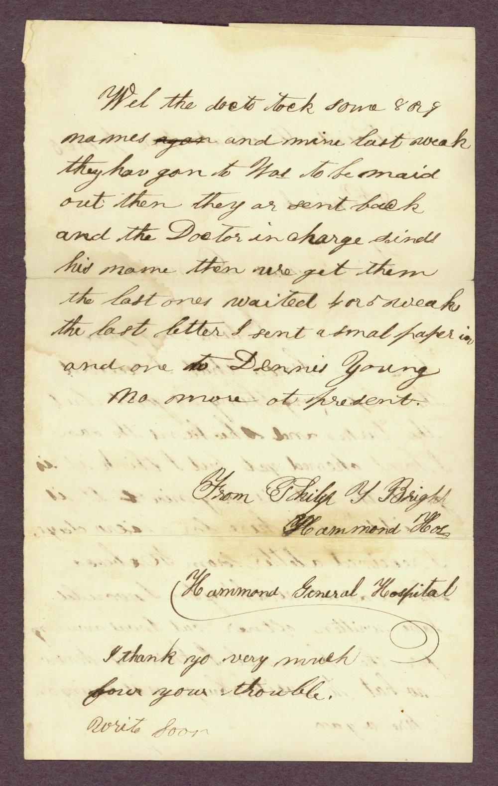 Abbie Bright correspondence - 12