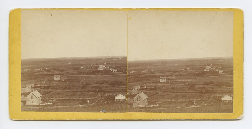 Waukerusa [i.e. Wakarusa] Valley looking east from Mount Oriad [i.e. Oread] Lawrence, Kansas. 323 miles west of St. Louis, Mo. - 1