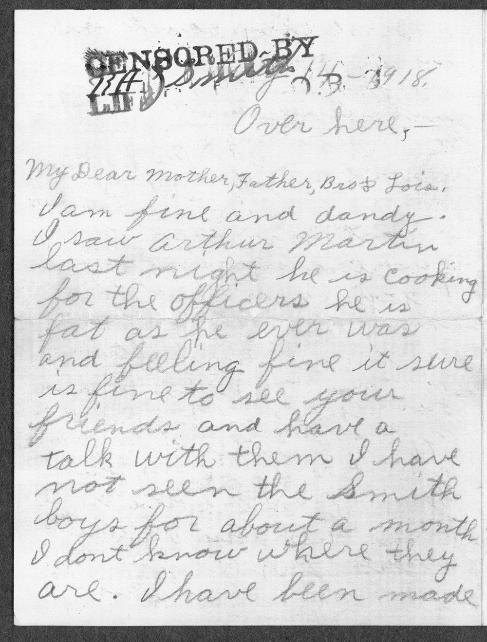 Alvin Artie Gregg, World War I soldier - 4