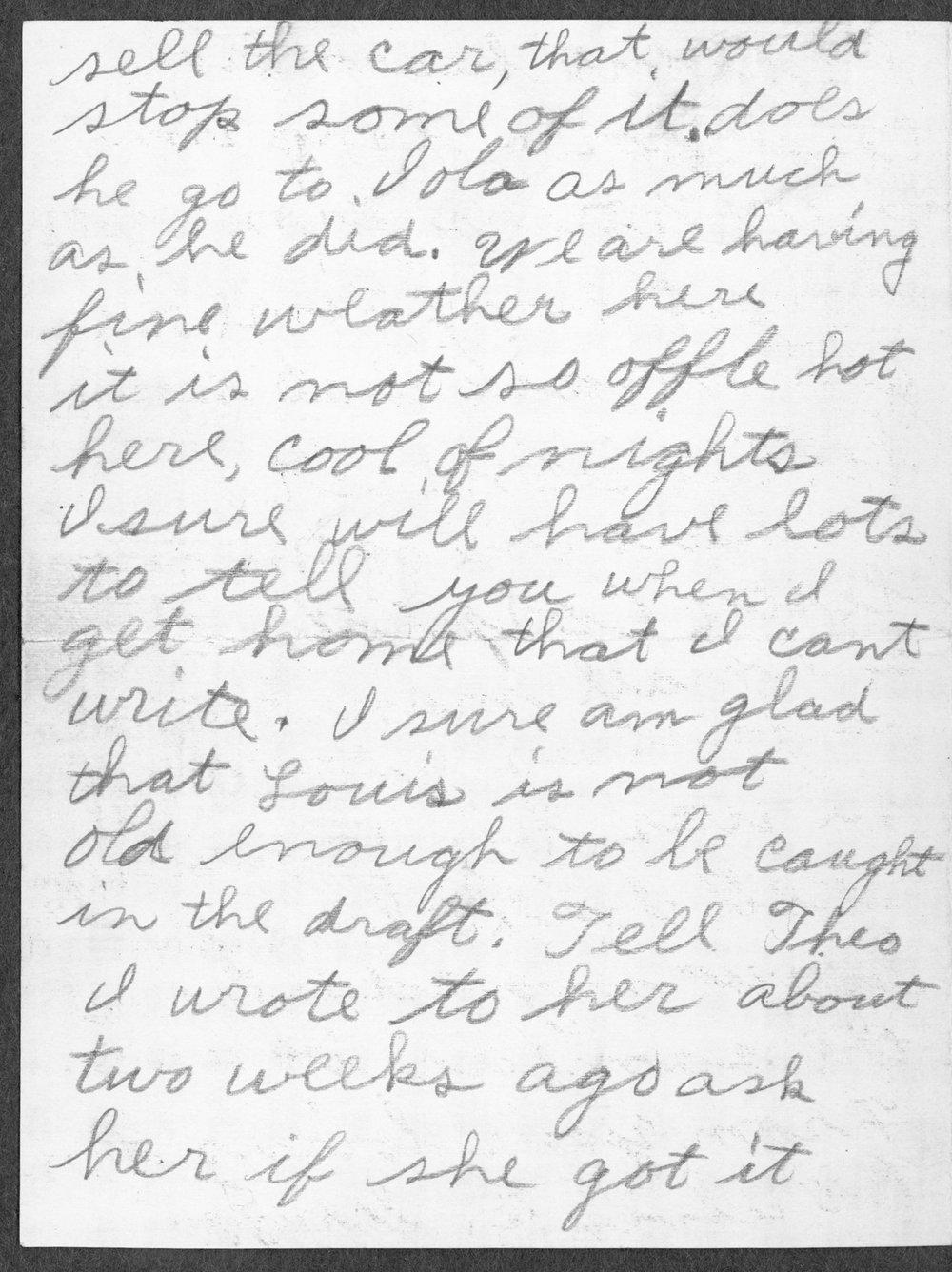 Alvin Artie Gregg, World War I soldier - 6