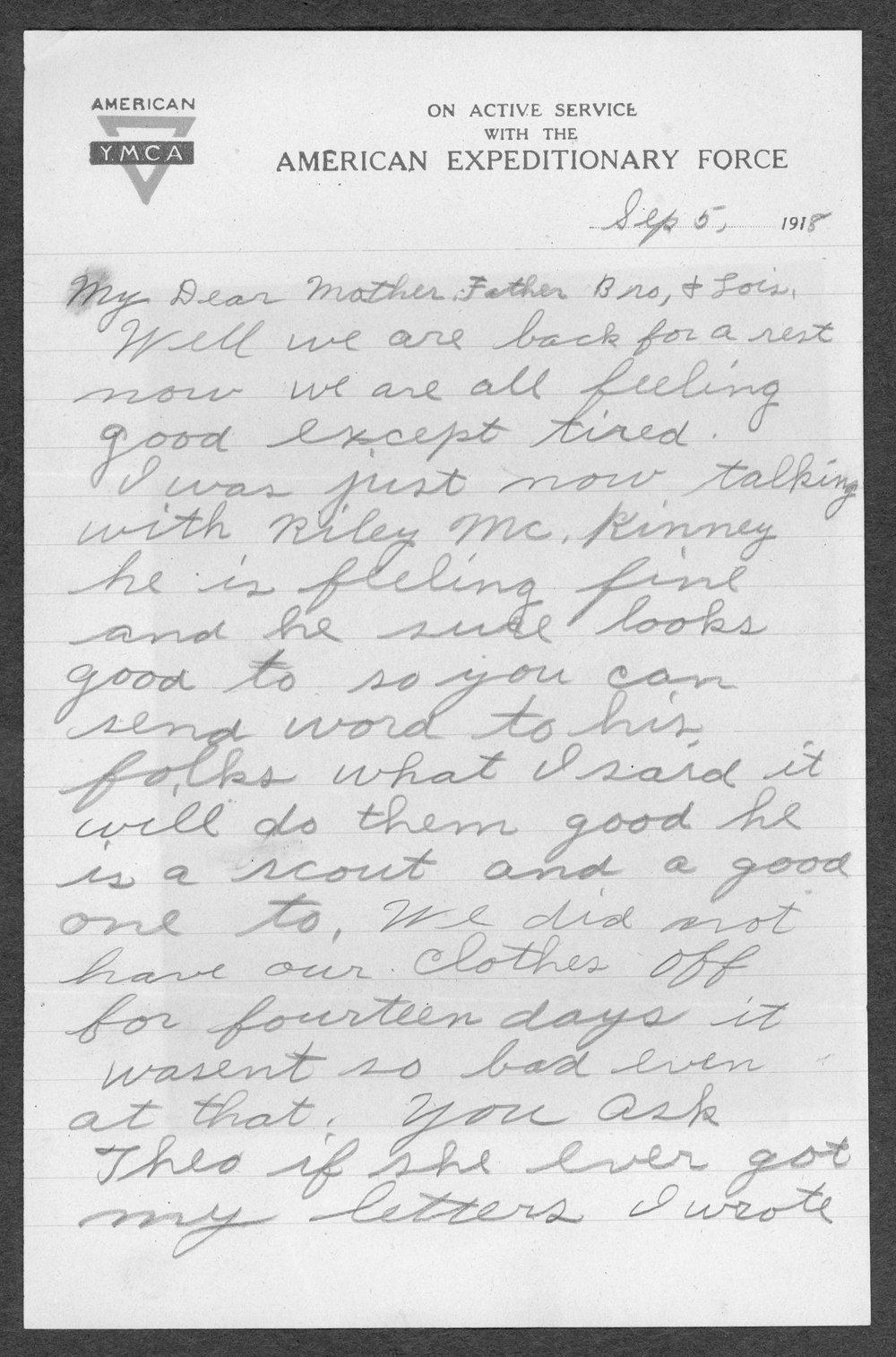 Alvin Artie Gregg, World War I soldier - 11