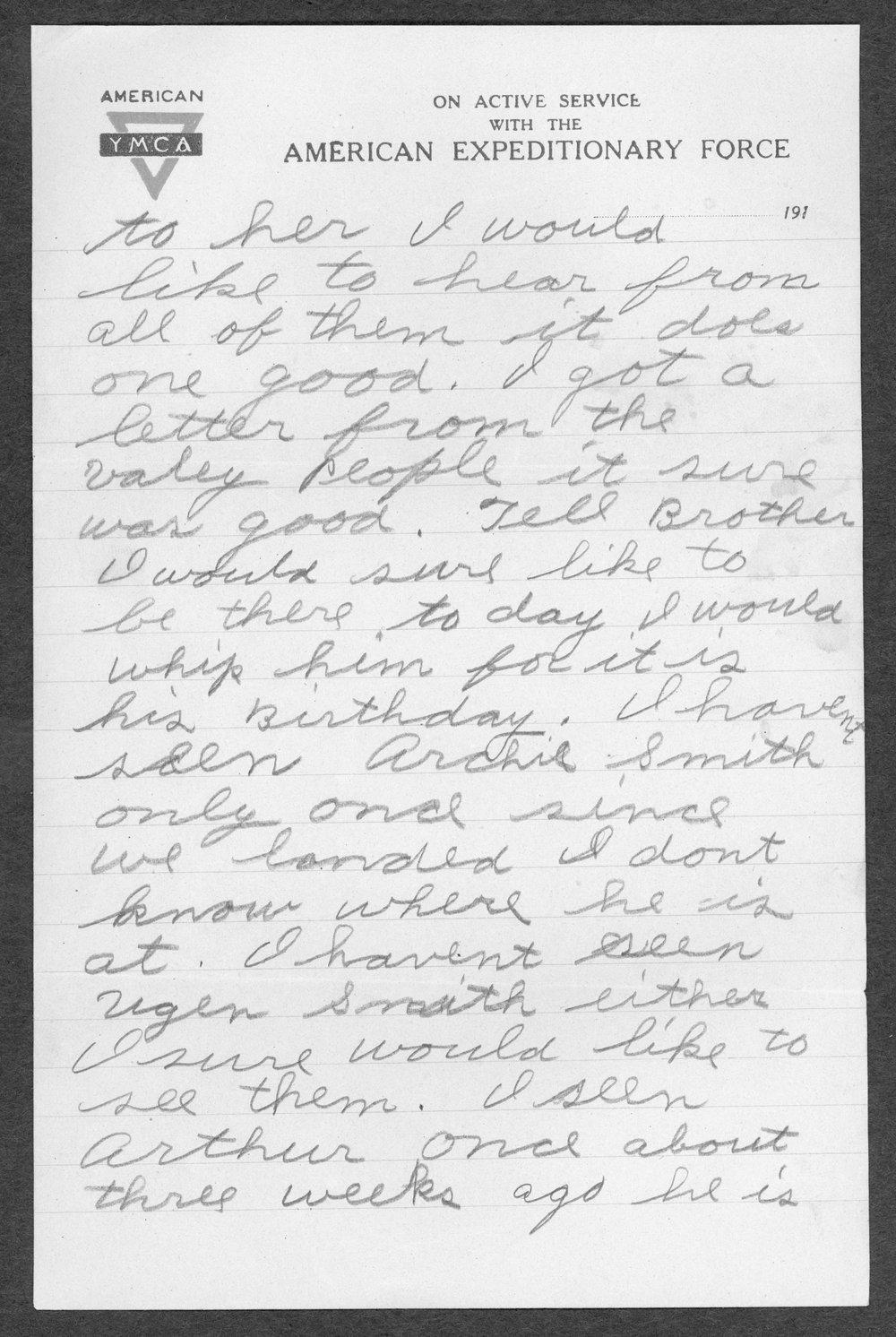 Alvin Artie Gregg, World War I soldier - 12