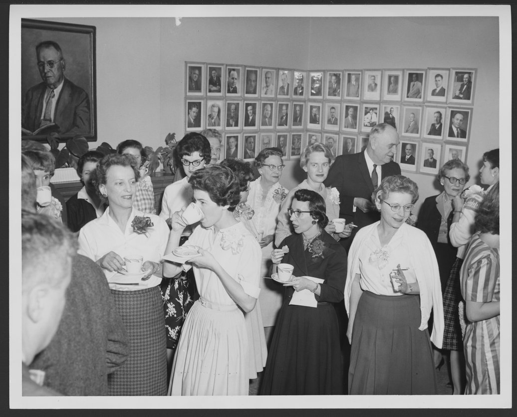 Secretaries' Tea at Menninger Clinic, Topeka, Kansas - 1