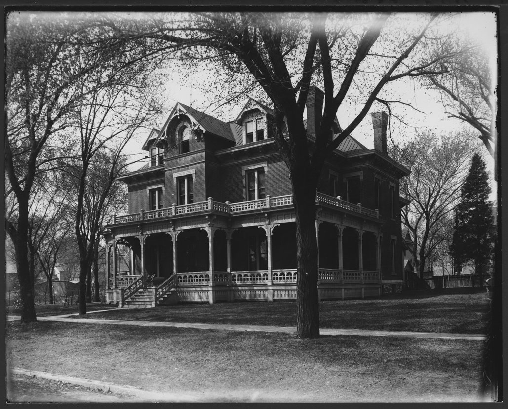Jacob House residence and later Simmons Hospital in Lawrence, Kansas