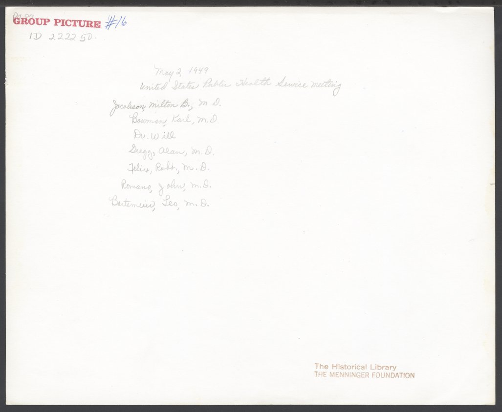 William C. Menninger, M.D. - 2