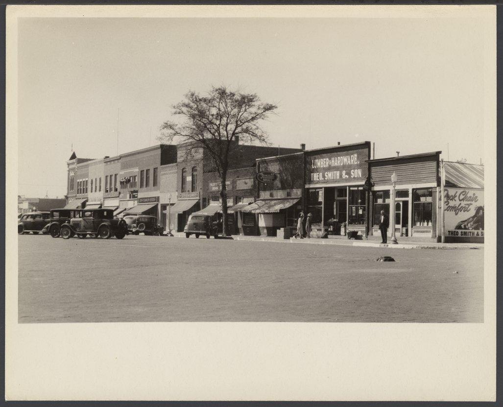 Business street in Phillipsburg, Kansas