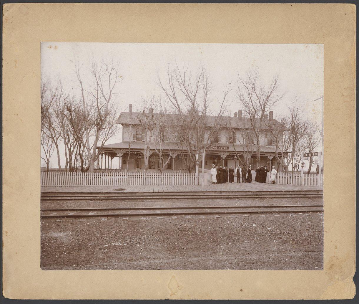 Depot hotel in Kinsley, Kansas