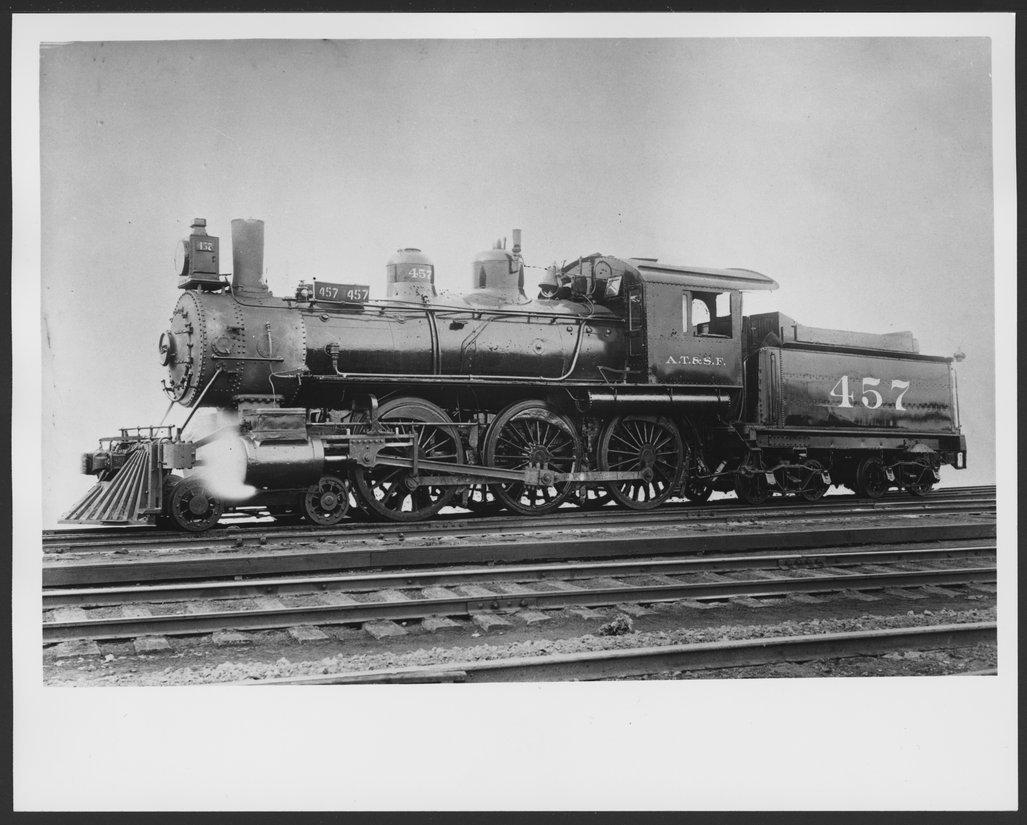Atchison, Topeka & Santa Fe Railway Company's steam locomotive #457