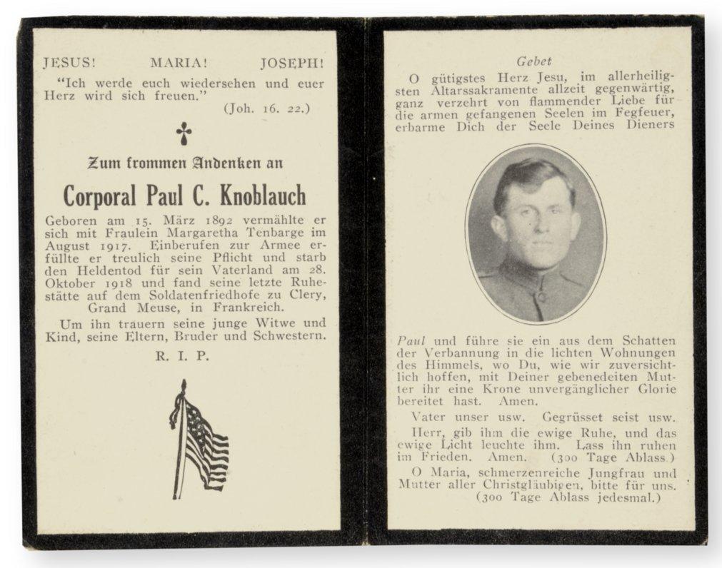 Memorial card - 1