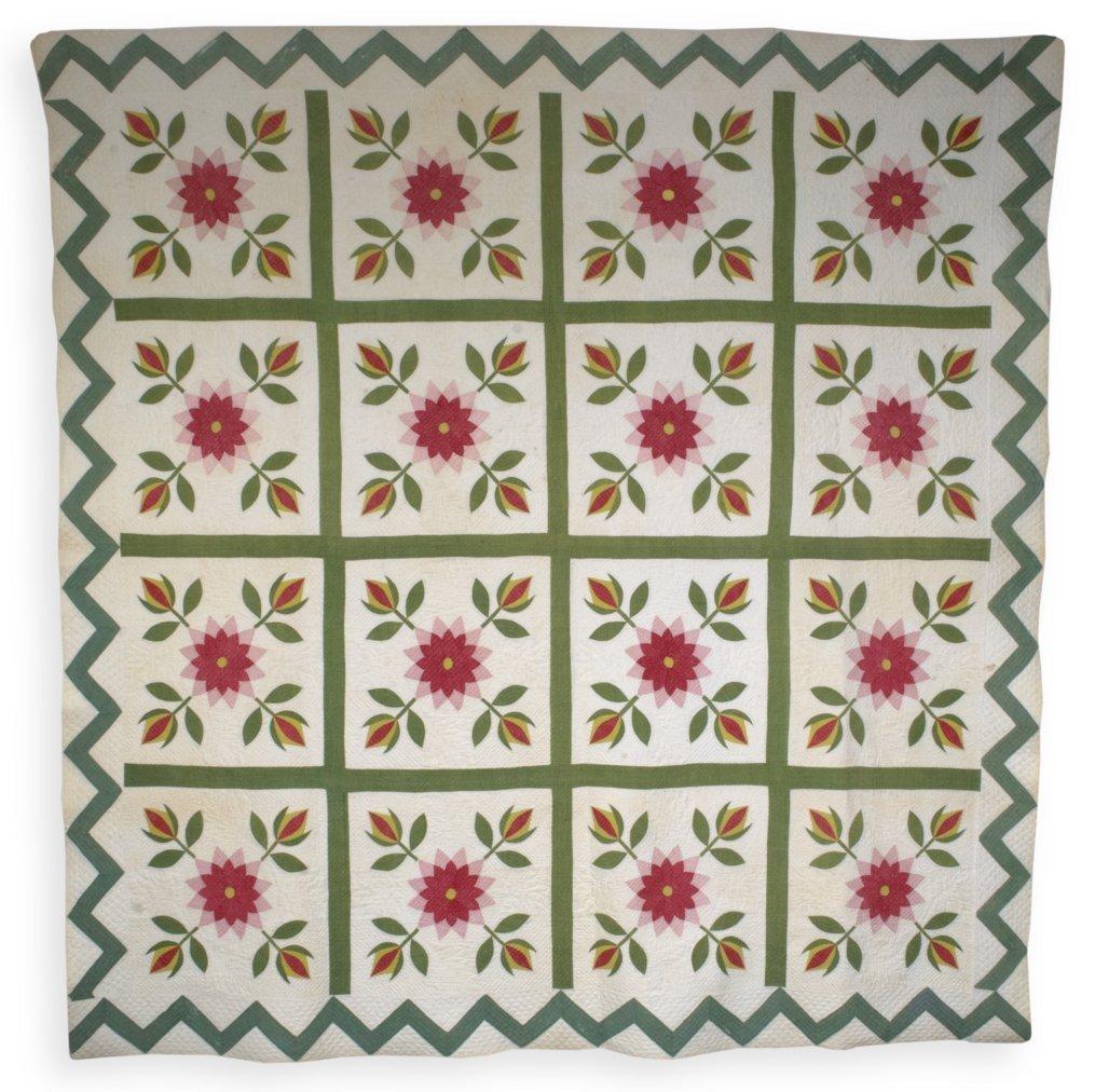 Rose and Tulip quilt