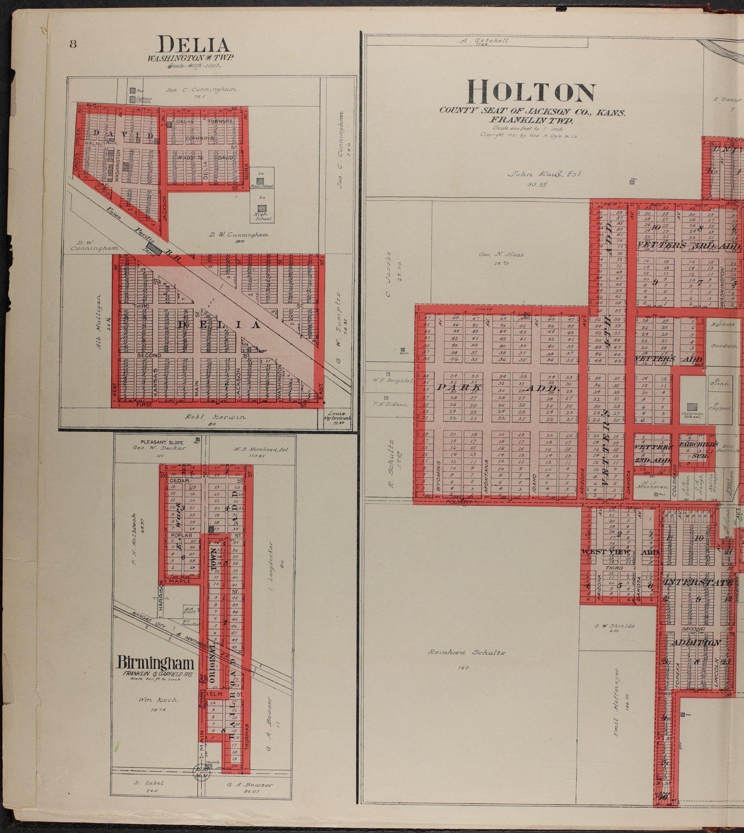 Standard atlas of Jackson County, Kansas - 8