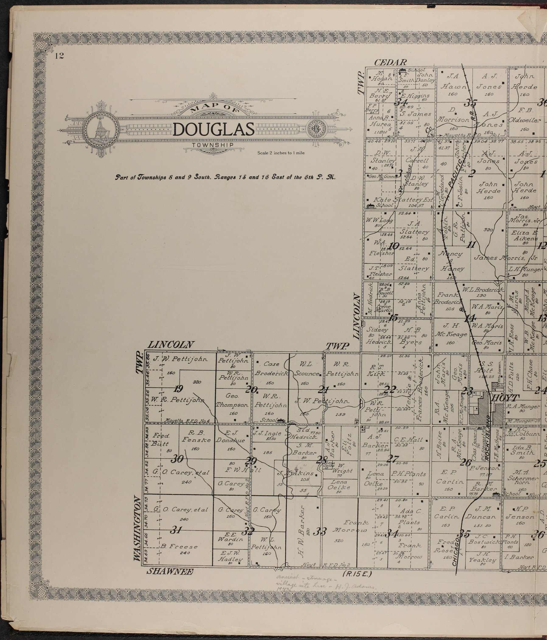 Standard atlas of Jackson County, Kansas - 12