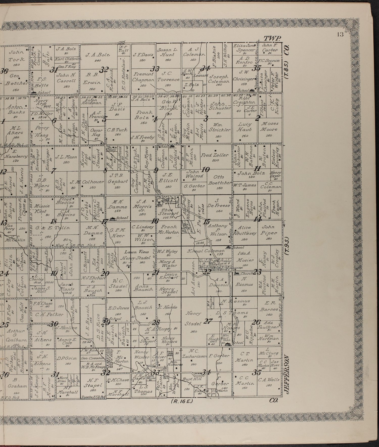 Standard atlas of Jackson County, Kansas - 13
