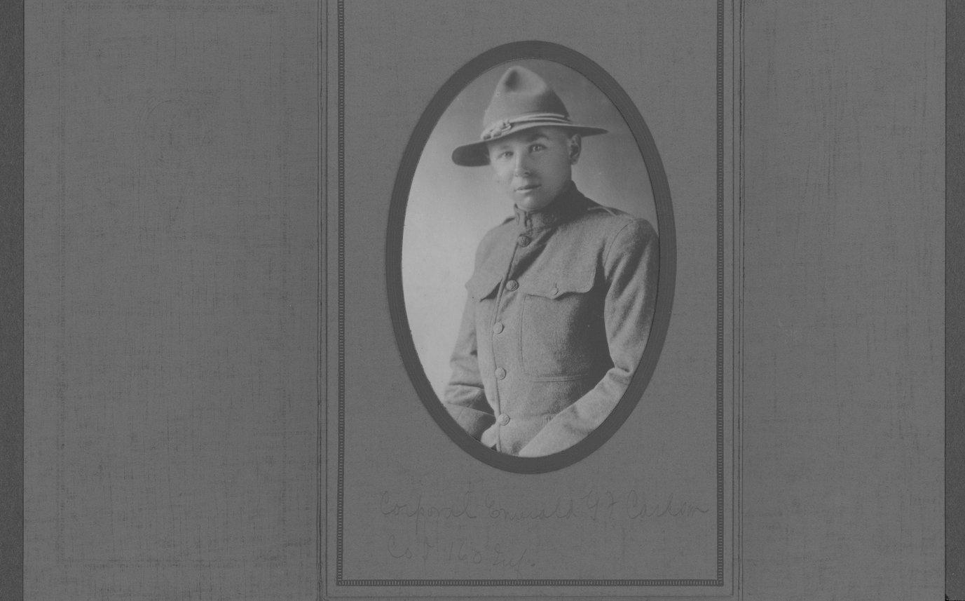 Emerald G.F. Carlson, World War I soldier - Photograph