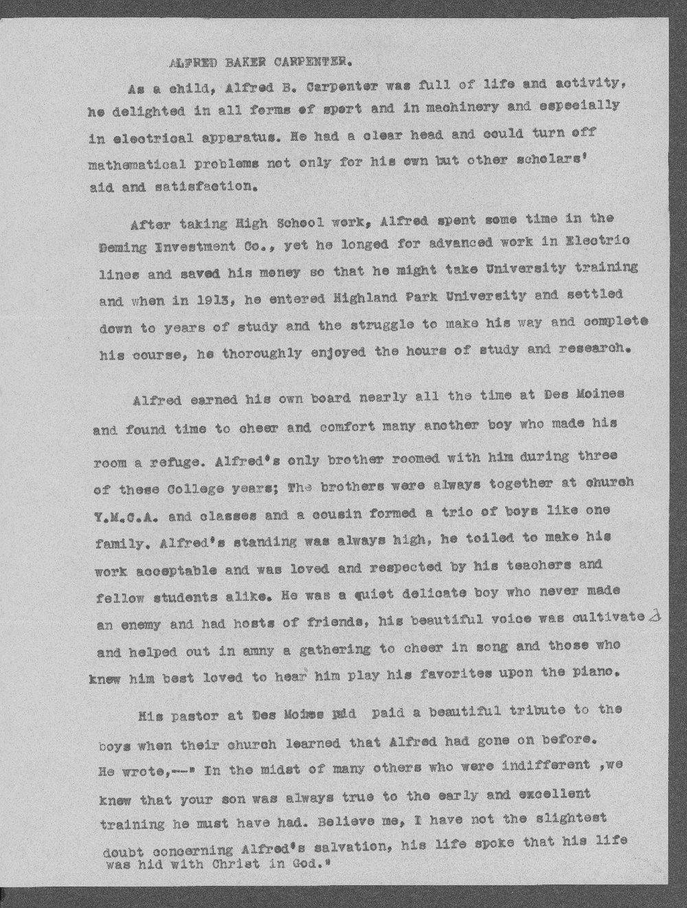 Alfred Baker Carpenter, World War I soldier - 4