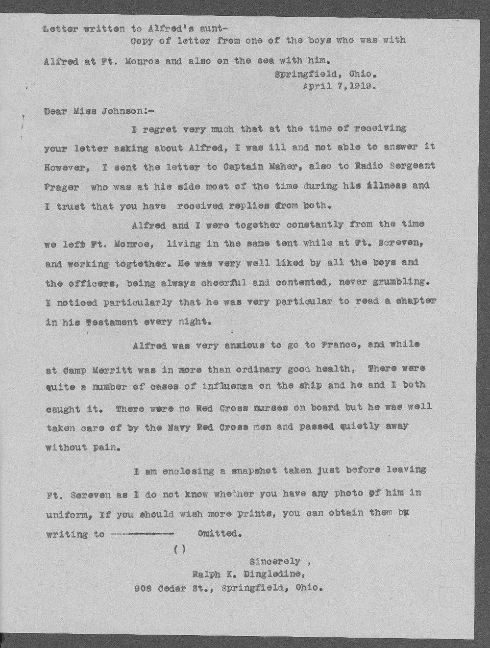 Alfred Baker Carpenter, World War I soldier - 6