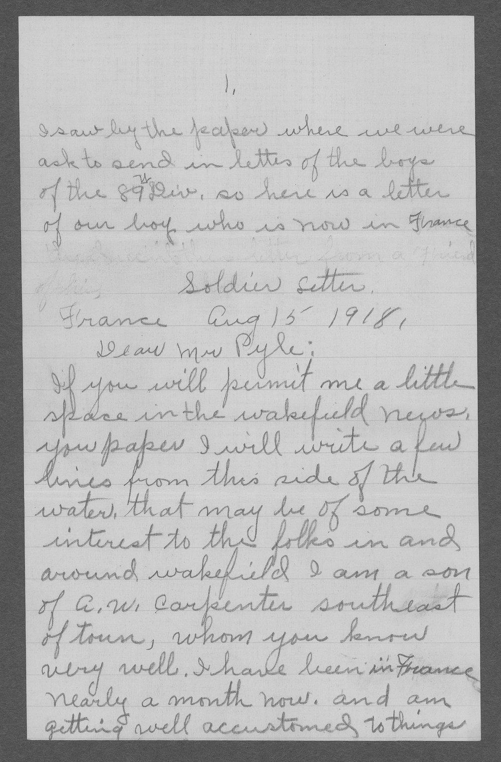 Ernest E. Carpenter, World War I soldier - 3