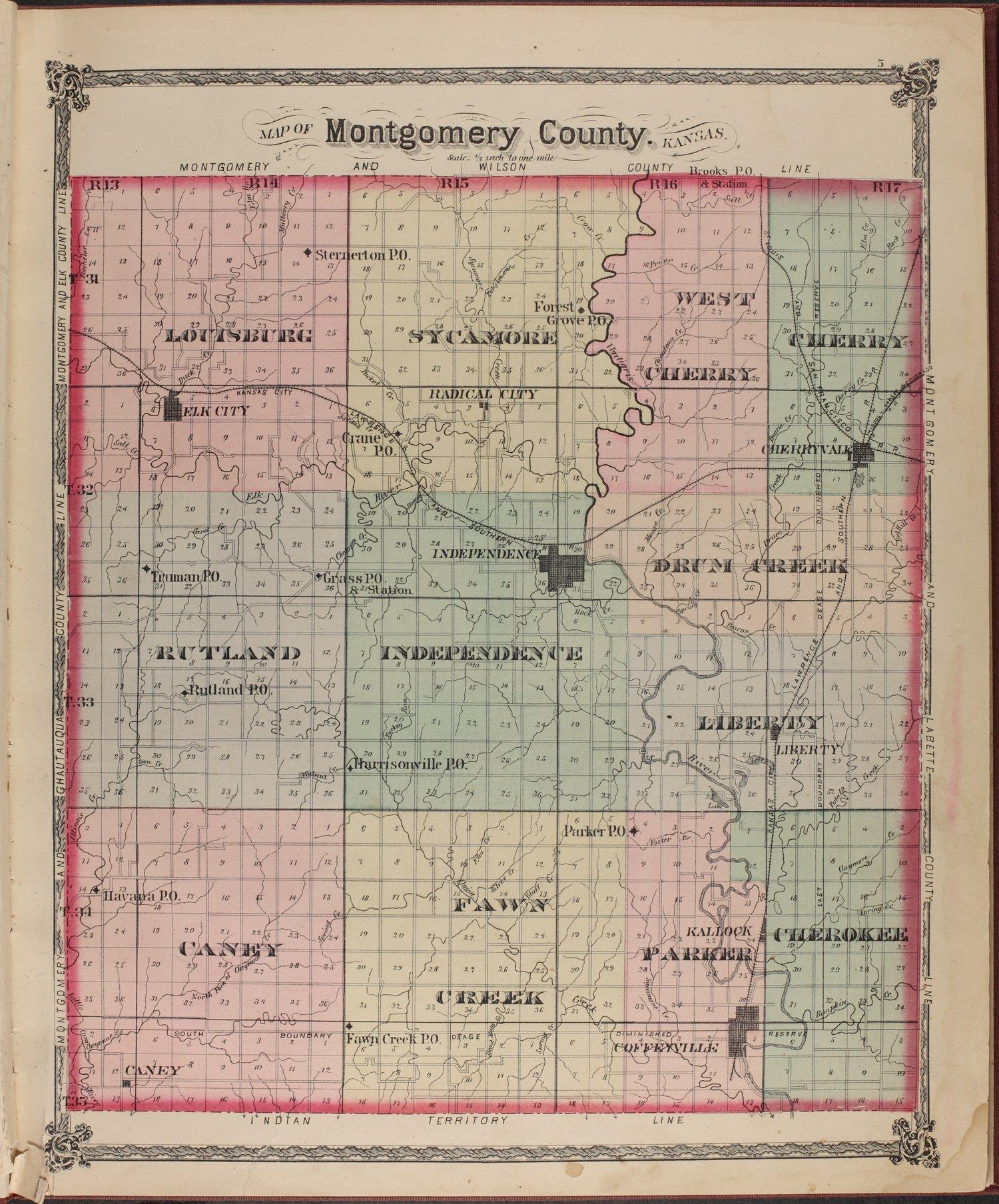 Historical atlas of Montgomery County, Kansas - 5