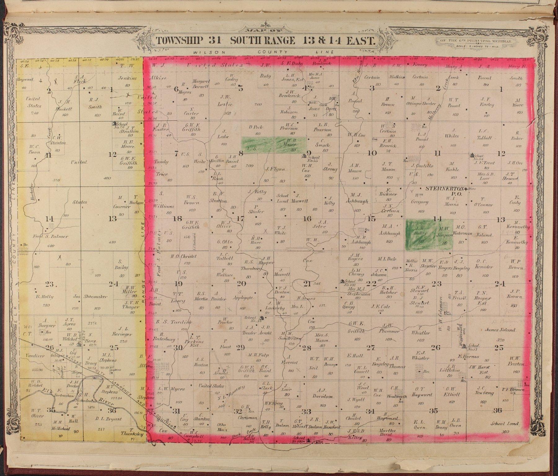 Historical atlas of Montgomery County, Kansas - 6
