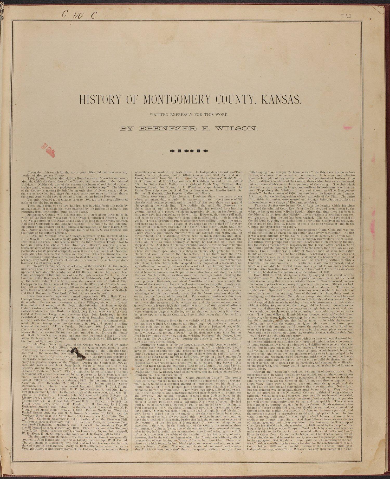 Historical atlas of Montgomery County, Kansas - 7