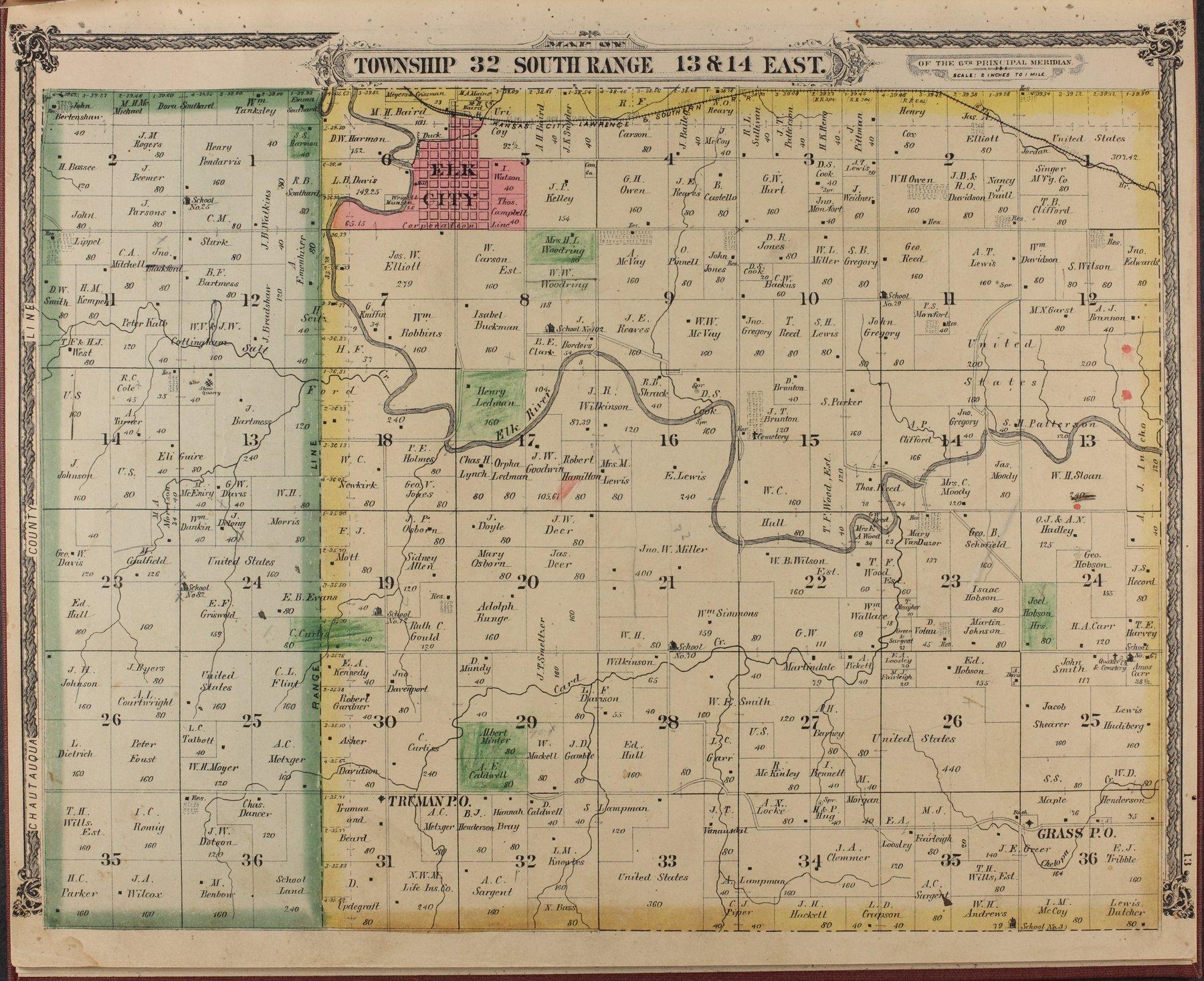 Historical atlas of Montgomery County, Kansas - 13