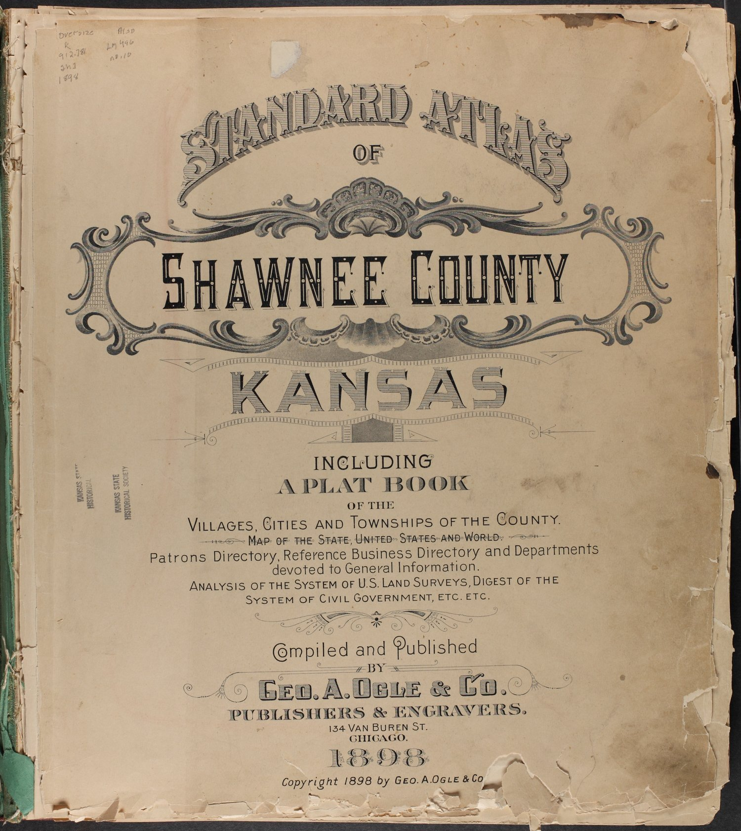 Standard atlas of Shawnee County, Kansas - Title Page