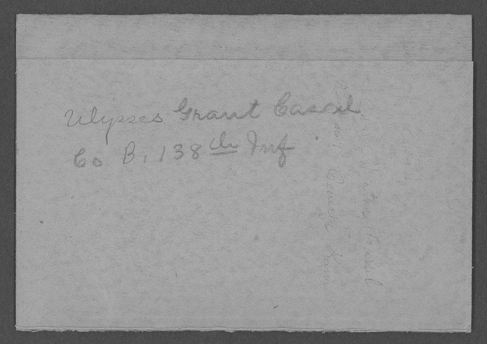 Ulysses Grant Cassel, World War I soldier - 2