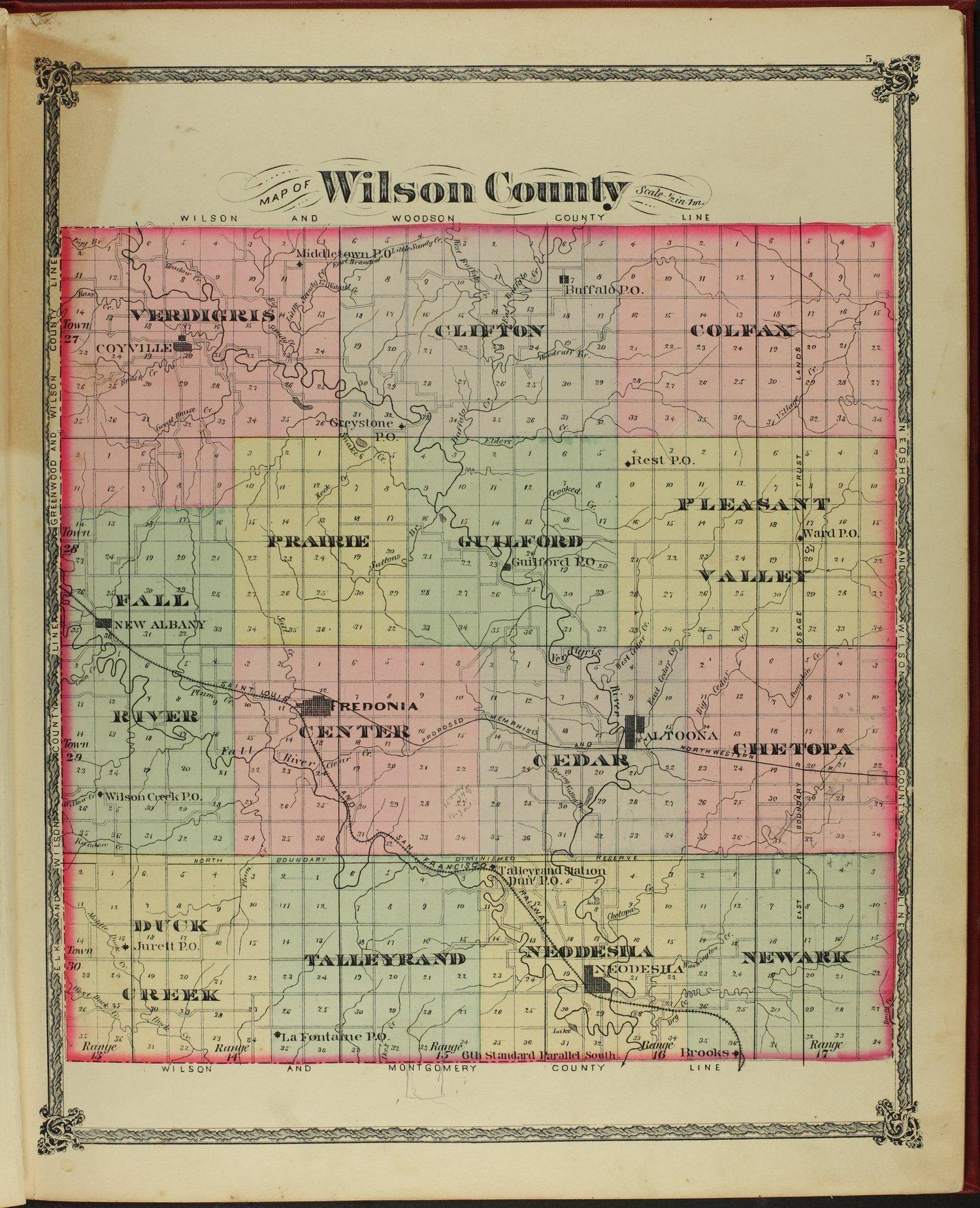 Historical atlas of Wilson County, Kansas - 5