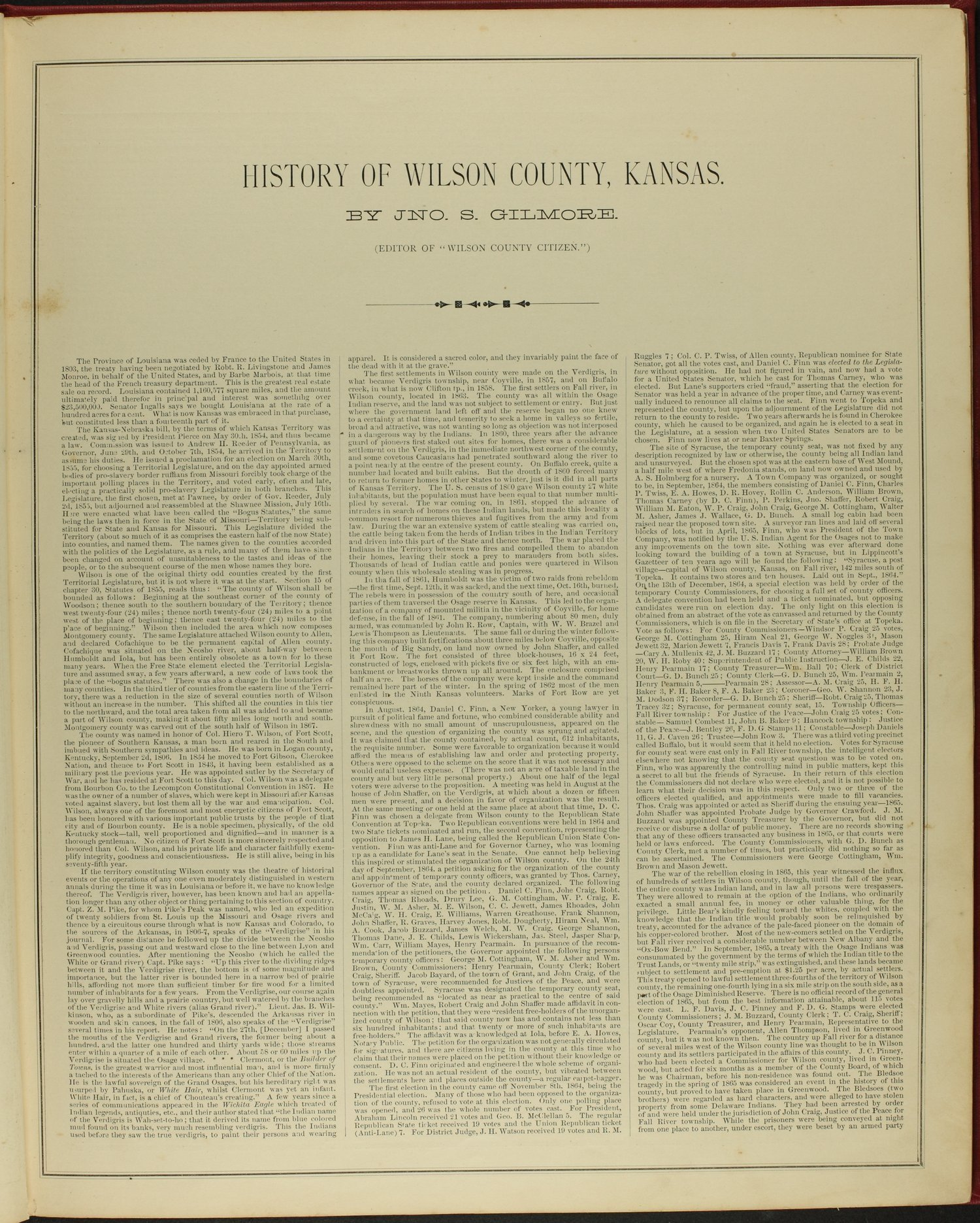 Historical atlas of Wilson County, Kansas - 7