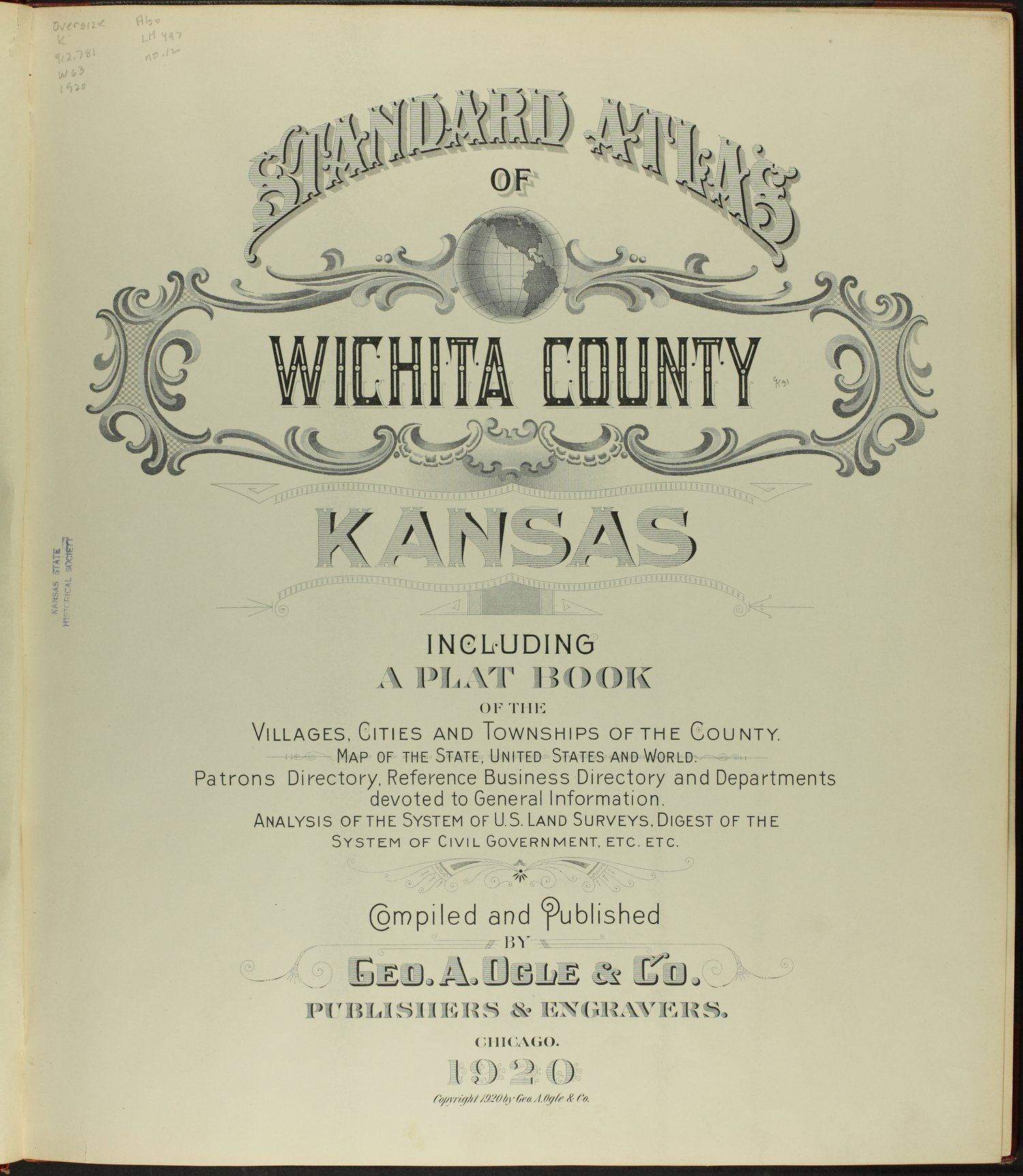 Standard atlas of Wichita County, Kansas - Title Page