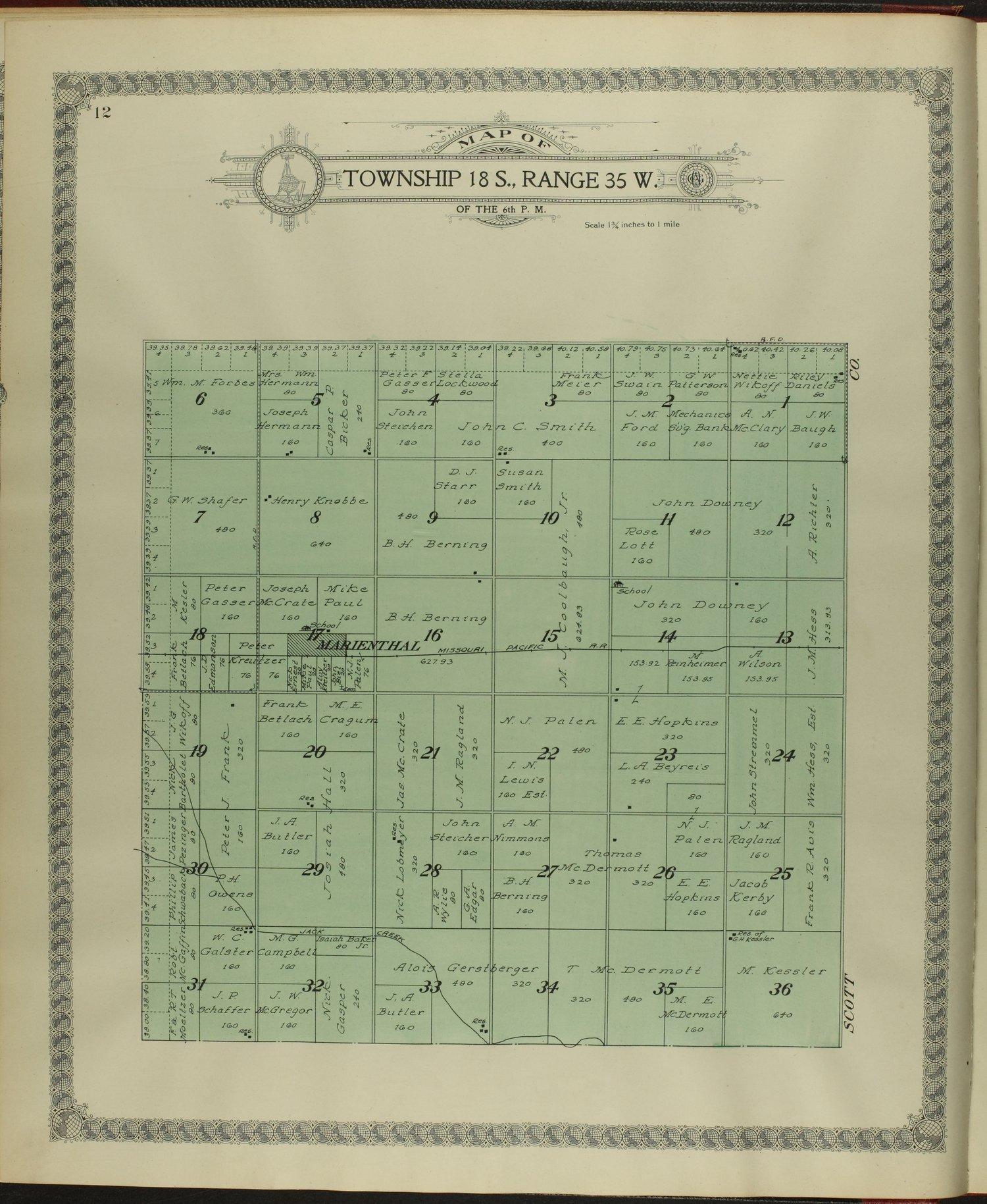 Standard atlas of Wichita County, Kansas - 12