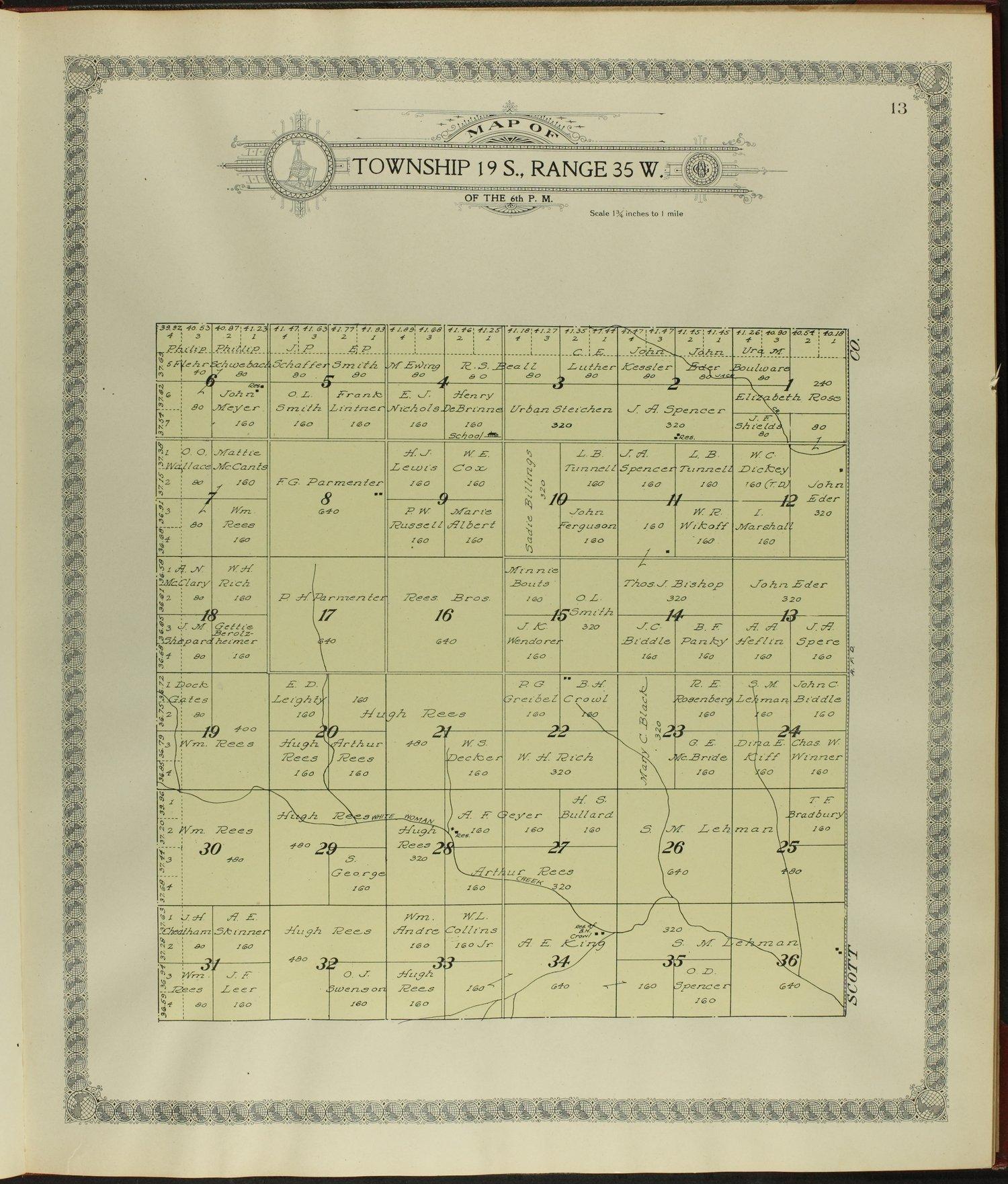 Standard atlas of Wichita County, Kansas - 13