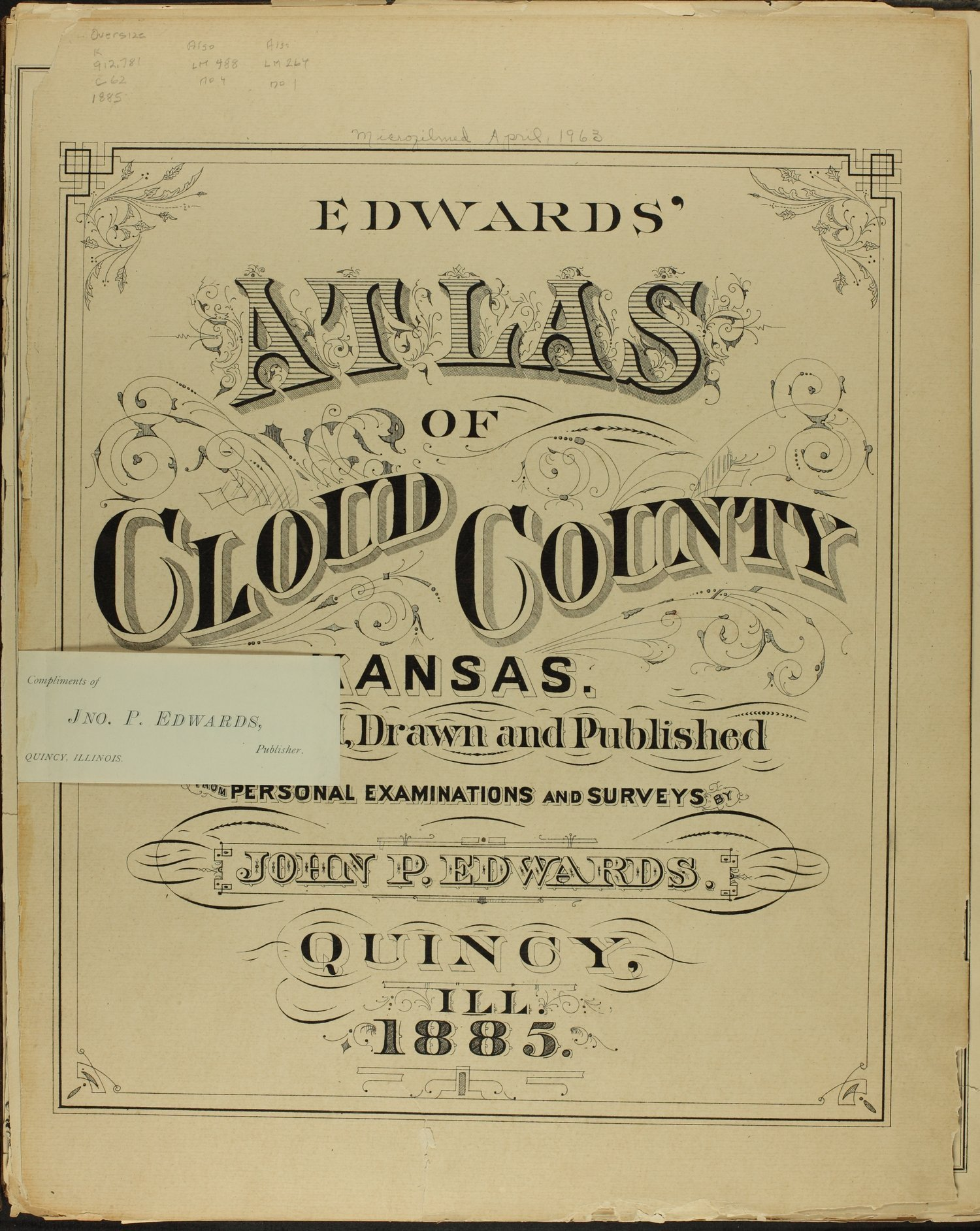 Edward's atlas of Cloud County, Kansas - Title Page