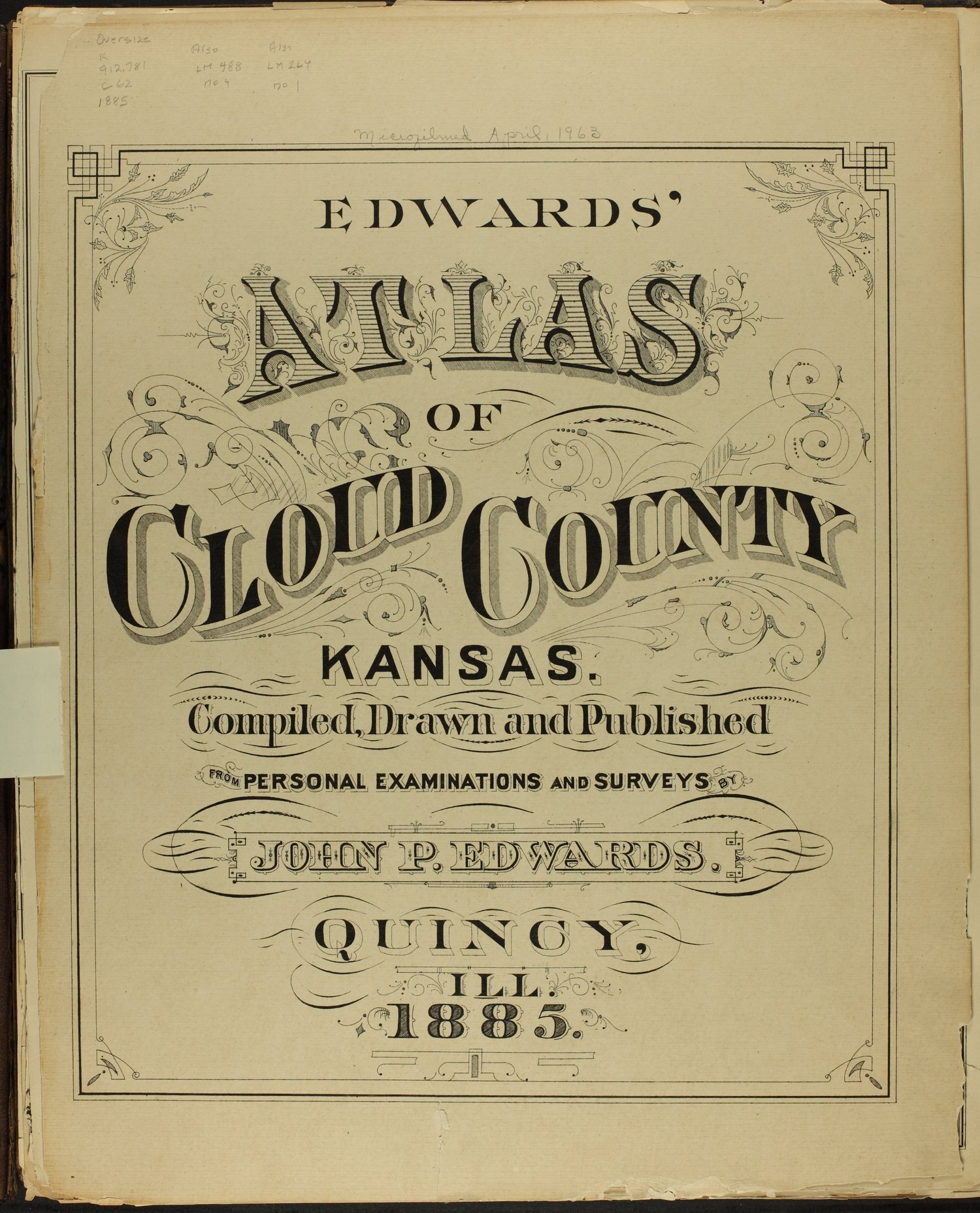 Edward's atlas of Cloud County, Kansas - Title Page (b)