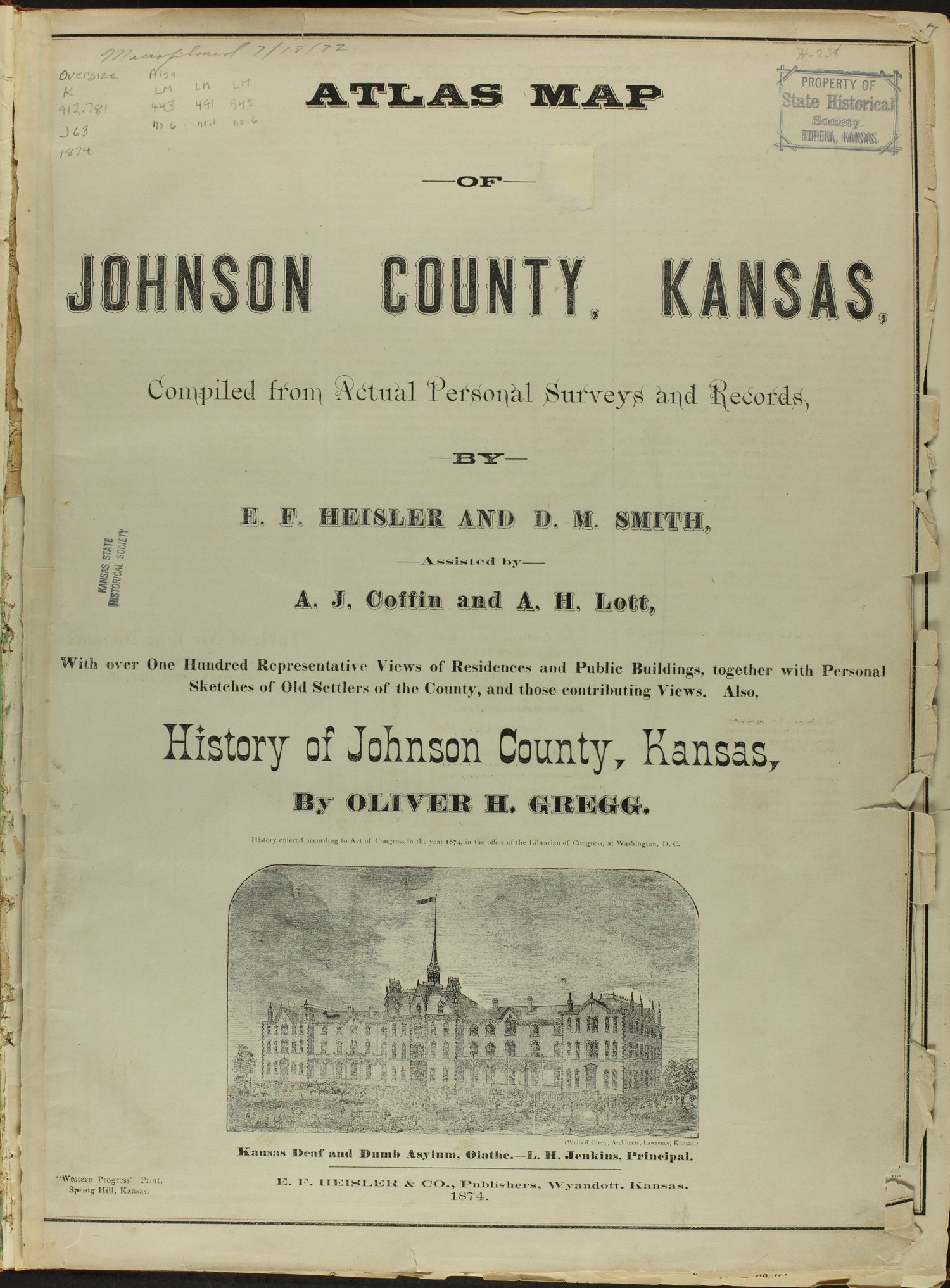 Atlas map of Johnson County, Kansas - Title Page