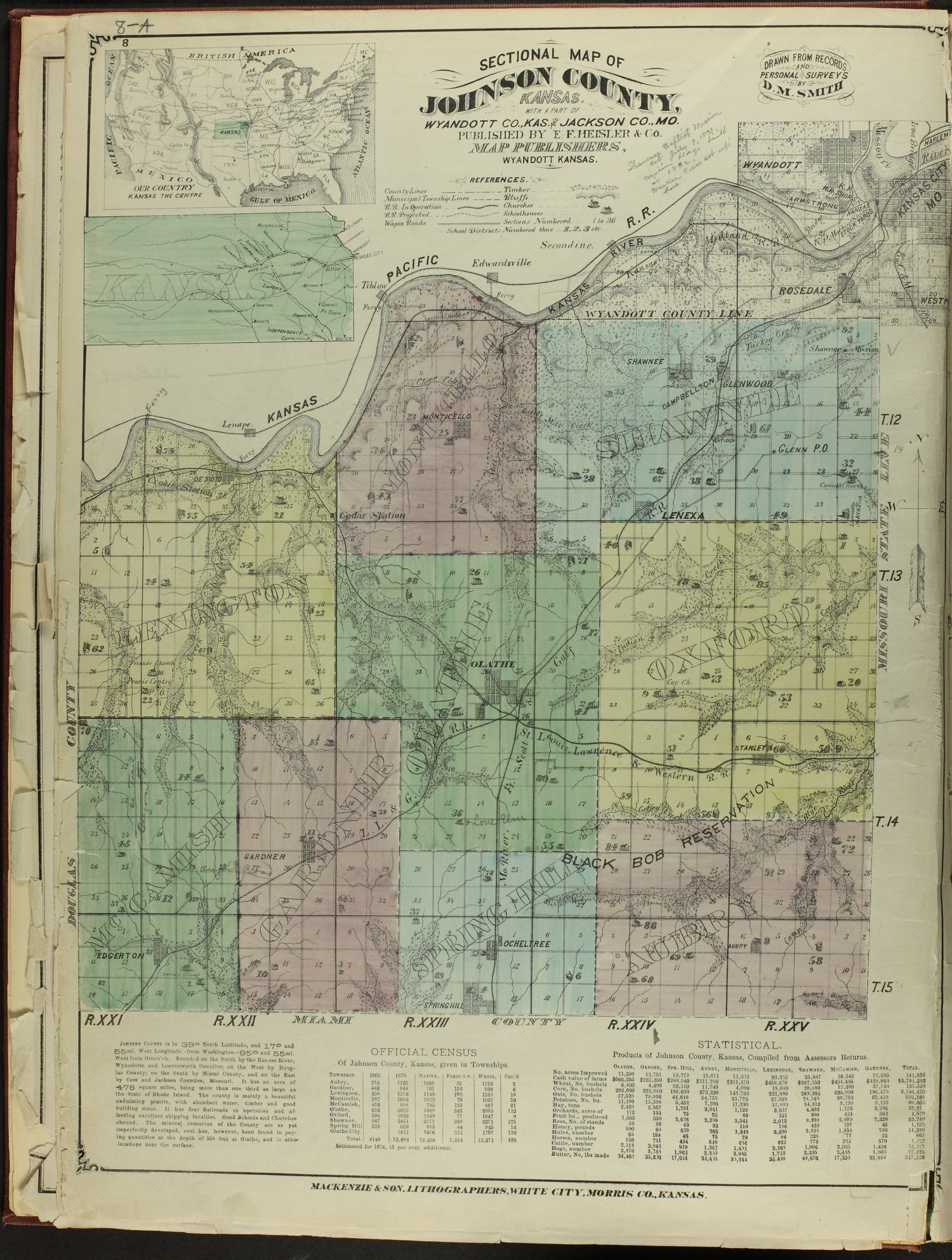 Atlas map of Johnson County, Kansas - 8