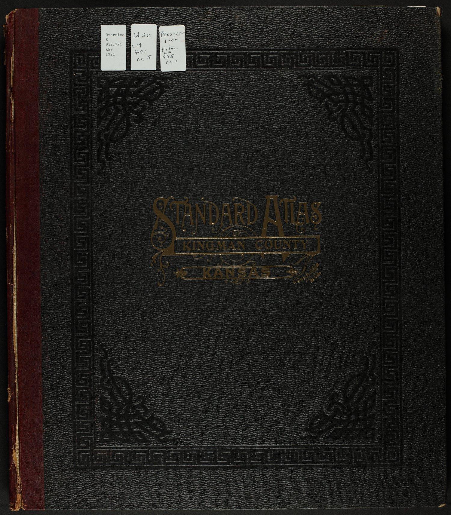 Standard atlas of Kingman County, Kansas - Front Cover