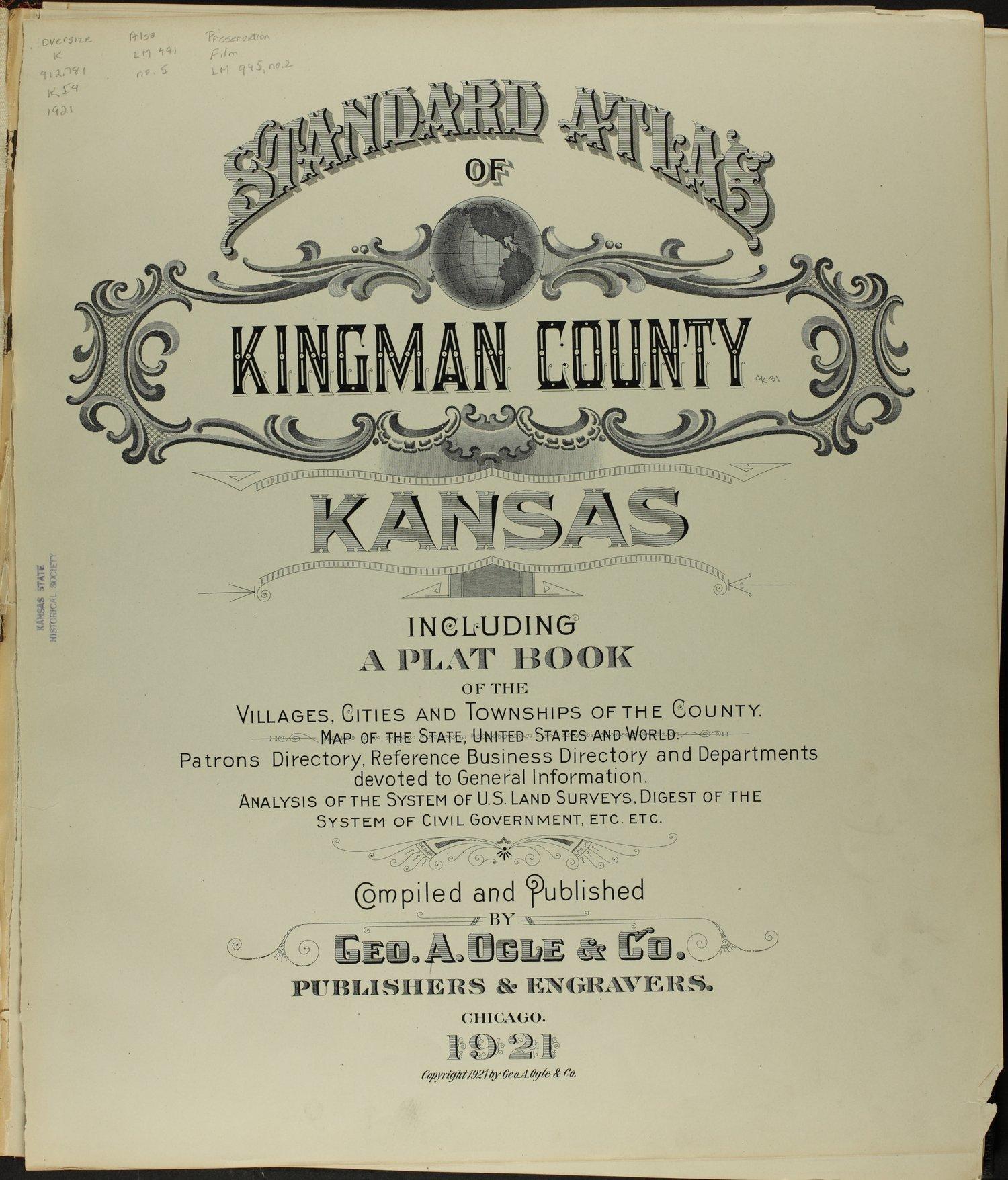Standard atlas of Kingman County, Kansas - Title Page