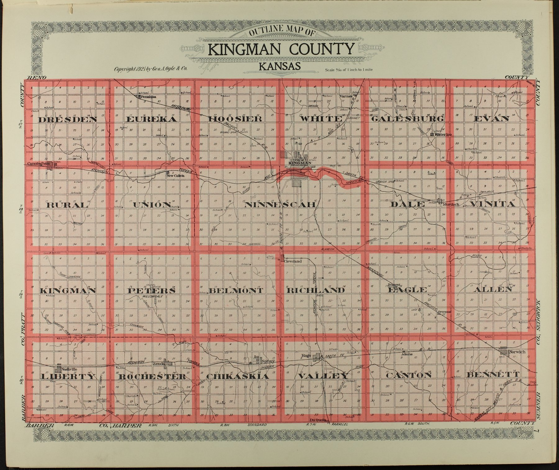 Standard atlas of Kingman County, Kansas - 7