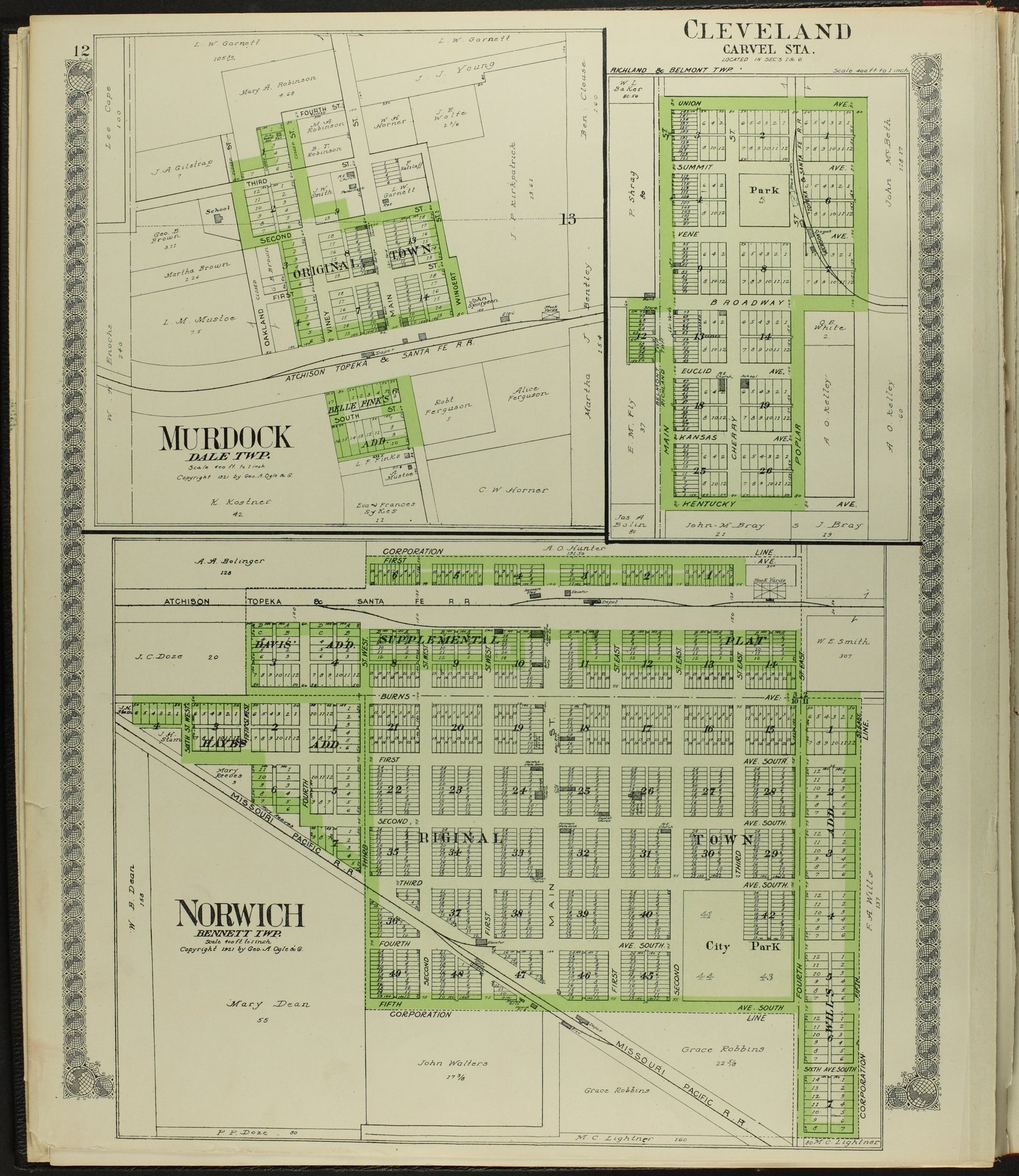 Standard atlas of Kingman County, Kansas - 12