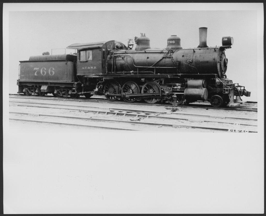 Atchison, Topeka and Santa Fe Railway Company's steam locomotive #766