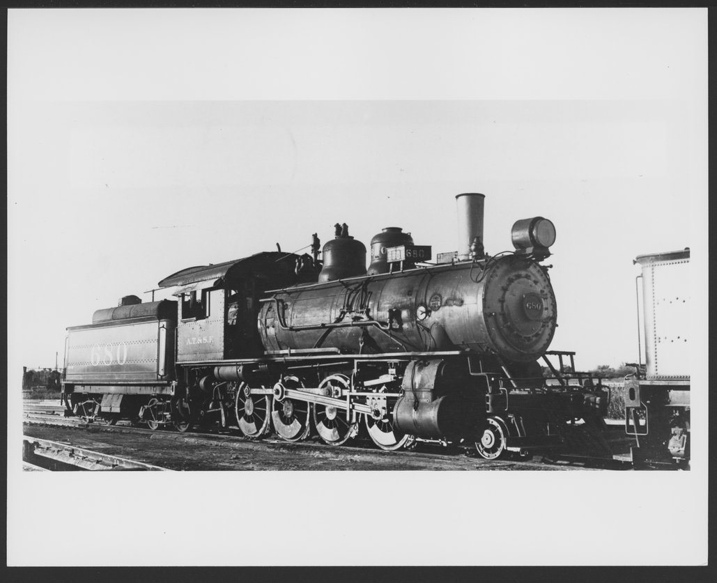 Atchison, Topeka & Santa Fe Railway Company's steam locomotive #680
