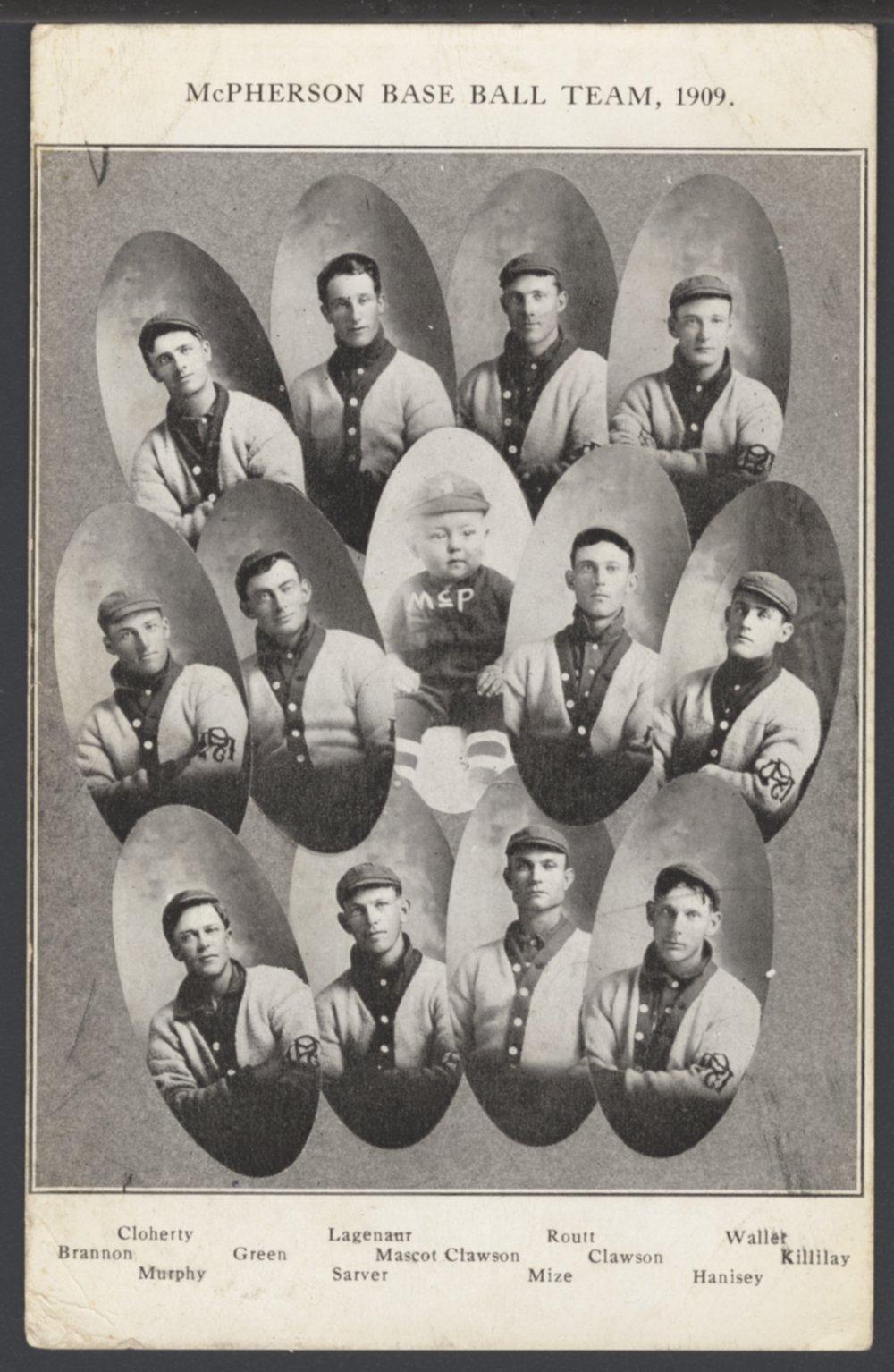 Baseball team, McPherson, Kansas - 1