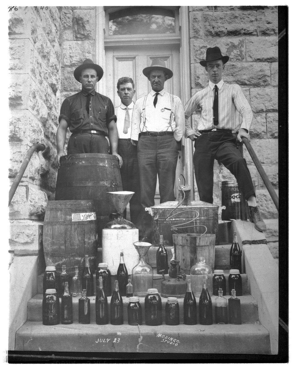 Confiscated liquor, Eureka, Kansas